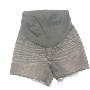 Isabel Maternity Black Denim Midi Shorts